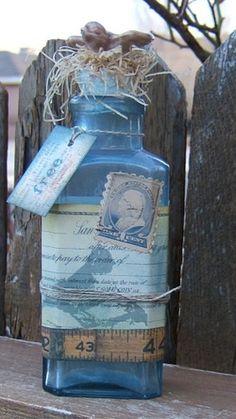 Swapbot Vintage Altered Bottle front