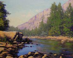 Colorado River Painting by artsaus.deviantart.com on @deviantART