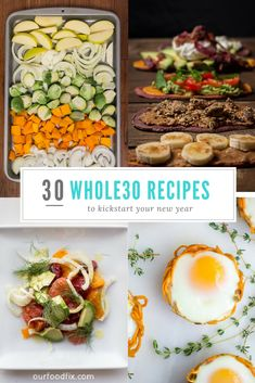 Every recipe you will ever need for a successful Whole30 is included in this comprehensive roundup. Including breakfast, mains such as soup, slow cooker meals, and on-the-go, as well as sides, snacks/appetizers, and entire meal plans. Get ready to rock your Whole30! Whole30 recipes | Whole 30 | Whole30 meal plans | Whole30 shopping lists | Whole30 breakfast | Whole30 mains | Whole30 lunch | Whole30 sides | Whole30 snacks | Paleo recipes | Menu and meal planning #ourfoodfix #whole30