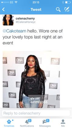 The gorgeous @CelenaHoneyz wearing CAKO ladies trim black skull & cross bone tee at the opening of new club in #London last night @DNAclubLondon You look amazing thanks so much Celena  xxx #DNALondon #celebrities #VIP #music #fashion #cakoteam  www.cakoboutique.com @CAKO @Richardson & Squibb