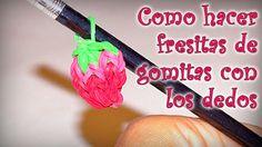 CÓMO HACER FRESITAS DE GOMITAS CON LOS DEDOS | Aprender manualidades es facilisimo.com