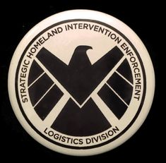 Button Agents of S.H.I.E.L.D. SHIELD Logo Agent Coulson Marvel
