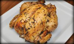 Slow Roasted Chicken - Easy. From Simple Organized Living.