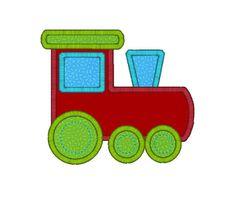 Train Applique Machine Embroidery Design-INSTANT DOWNLOAD
