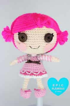PATTERN Lalaloopsy Little Toffee Cocoa Cuddles by epickawaii, $5.99