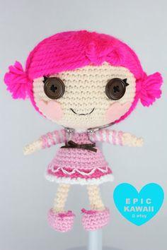PATRÓN: Toffee poco Crochet Amigurumi muñeca por epickawaii en Etsy