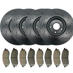 Front /& Rear Set for 03-11 Nissan Murano Hawk Ceramic Brake Pads