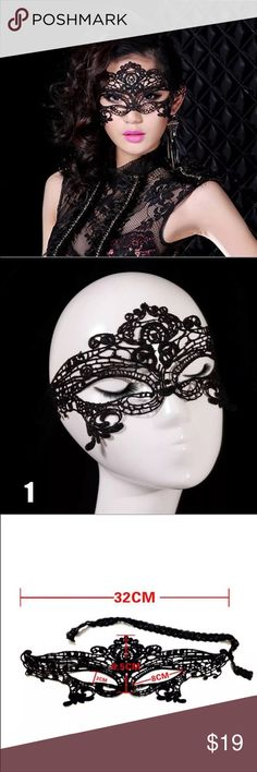 New black lace face mask Mardi Gras masquerade brand new black lace face mask Mardi Gras masquerade. Very long got & thin fabric. Check out my closet, we have a variety of women's, Victoria Secret, handbags  purse  Aerosoles, shoes  sandals, Gold, silver, black chocker, fashion jewelry, necklace, clothing, dresses, tops, blouse, skirts, bags, leggings, pants, makeup, Beauty, home  .  Ships via USPS. Smoke & Pet-Free. Offers 30% OFF bundle discount. Always a FREE GIFT  with every purchase…