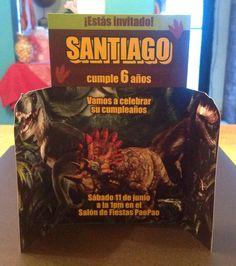 invitaciones de dinosaurio