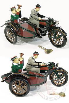 Parade Motorcycle and Sidecar Brown