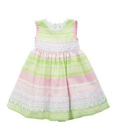 Lime Stripe Sleeveless Dress - Toddler & Girls #zulily #zulilyfinds