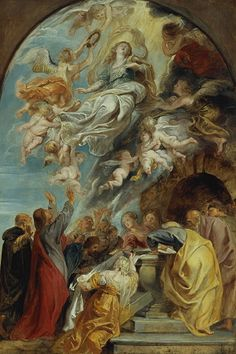 ペーテル・パウル・ルーベンス《聖母被昇天(下絵)》