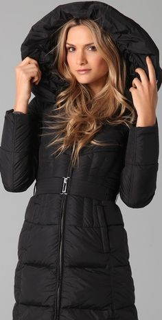6692ad8c Add Down - Nylon Gloss Icon Puffer Coat in black = my winter jacket Winter  Holiday