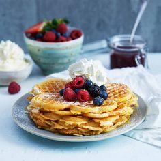 Glutenfria våfflor – enkelt recept Grandma Cookies, Gluten Free Recipes, Healthy Recipes, Paleo Side Dishes, Pancakes And Waffles, Paleo Pancakes, Baking Muffins, Paleo Baking, Swedish Recipes