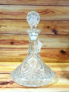 Beautiful Vintage Cut Crystal Wine Decanter by ArtMaxAntiques on Etsy