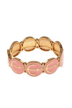 Sail On Stretch Anchor Bracelet Pink- Shop Simply Me Boutique – Simply Me Boutique