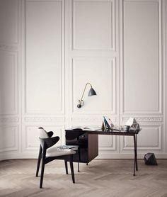 GUBI // Grossman desk and Bestlite BL5 wall lamp