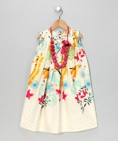 This getup twists a simple silhouette into some serious style. Portraying an artsy collage of flowers, abstracts and gorgeous prints, this frock can be rocked any time, any season. Plus, the included necklace makes the ensemble complete. Includes dress and necklace100% cottonMachine wash; ...