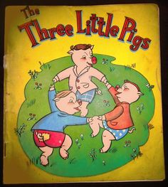 Vintage Book The Three Little Pigs 1944 with Some Spanish Translation   eBay