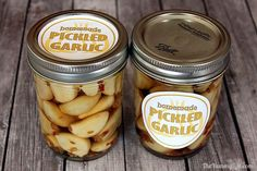 Pickled Garlic has the flavor of garlic without the bite. It is a great addition to salads, antipasto, sautés, or olive and cheese plates. Garlic Recipes, Jam Recipes, Canning Recipes, Garlic Jam Recipe, Cucumber Recipes, Italian Recipes, Recipies, Macedonian Food, Pickled Garlic