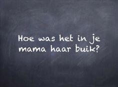Filosoferen: filosofeerkaartje 'Hoe was het in je mama haar buik?'