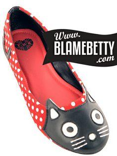 These little kitty flats kill me!! #blamebetty #rockabilly #retrostyle