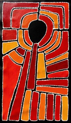 Aboriginal Artwork by Sally Clark. Sold through Coolabah Art on eBay. Cataogue ID 15661