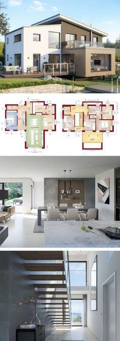 Haus L4 - Schamp  Schmalöer - Architektur und Städtebau - Dortmund - offene kuche wohnzimmer grundriss
