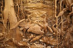 Traditional Chinese Dongyang Wood Carving