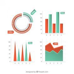 gráficos estadísticos infográficas Vector Gratis