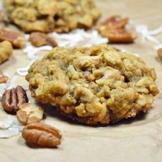 These Oatmeal Coconut Pecan Cookies are a great snack or dessert the whole family can enjoy! (cookie monster cupcakes baking soda)