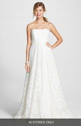 BLISS Monique Lhuillier Lace A-Line Dress (In Stores Only)