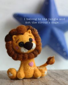 Adorable Needle Felted Lion  By: Joanne from Craft Passion