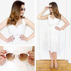 Retro White Dress Outfit   Tobi Haul • Sara du Jour