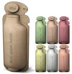 [F] 360 Paper Bottleという紙でできたペットボトル。発想もデザインも斬新で面白い。