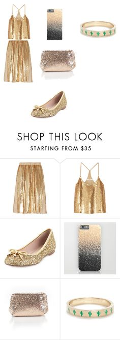 """Head to Toe Gold"" by chessmatilda ❤ liked on Polyvore featuring interior, interiors, interior design, home, home decor, interior decorating, TIBI, Kate Spade and J.Crew"