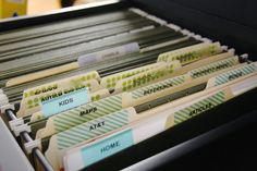 simply organized: organized hanging files