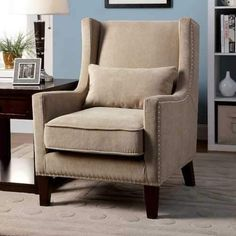Tomar Transitional Accent Chair, Ivory Color