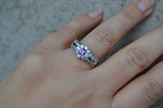 Amethyst Ring sterling silver ring silver ring gemstone