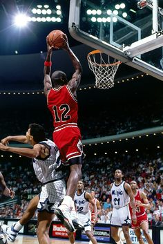 February 14, 1990. Michael Jordan's #23 jersey is stolen from the away locker room leaving him to wear a blank #12 jersey.