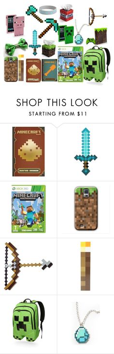 """I Love MINECRAFT"" by sahara2313 ❤ liked on Polyvore featuring Redstone and ThinkGeek"