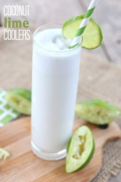 Healthy Sugar Free Coconut Lime Beverage - unbelievably refreshing!