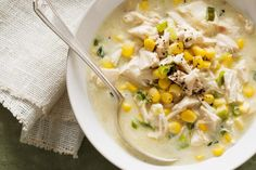 Master the classic recipe of chicken and corn soup.