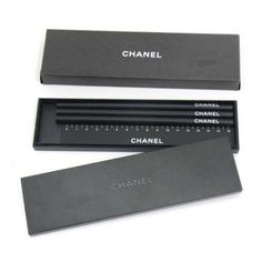 Chanel Pencil Case and Ruler