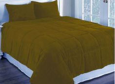 1Pc Dk Goldenrod Twinxl Corduroy Quilted With Poly Fiber Duvet Cover Home DéCor