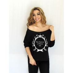 Disney Mirror the Fairest of Them All Off Shoulder Loose T-Shirt Boat... ($20) ❤ liked on Polyvore featuring tops, t-shirts, black, women's clothing, off the shoulder t shirt, loose fit t shirts, off shoulder shirt, boatneck tee and tee-shirt