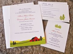 Oh So Beautiful Paper: Ali + Damien's Farm and Americana-Inspired Wedding Invitations