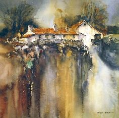 Mountain House by Roland Byrne House Painting, Watercolor Paintings, Wall Art, Abstract, Drawings, Artwork, Artists, Photography, Google