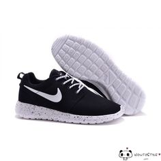 9dfc6b619 Nike Roshe Run Fur Ink Spot Black Speckled White Shoes Suede Pumas Shoes