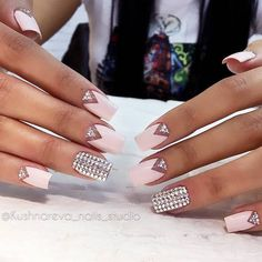 30 Graduation Nails Designs To Feel Like A Queen: Modern Triangle Nail Designs  #graduation; #triangle; #nails; #nailart; #naildesigns